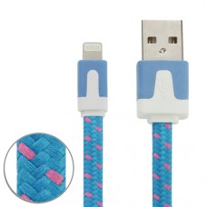 1M 8 pin Heavy Duty USB kabel til iPhone 5, iPhone 6, Ipad 4, iPad Mini og Ipod Touch 5 (IOS 8 kompatibel)